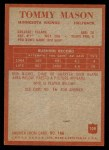 1965 Philadelphia #108  Tommy Mason  Back Thumbnail