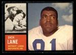 1962 Topps #60  Dick Lane  Front Thumbnail