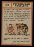 1962 Topps #138   Steelers Team Back Thumbnail