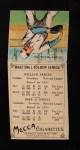 1911 T201 Mecca  Bill Bergen / Zach Wheat  Back Thumbnail