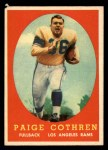 1958 Topps #92  Paige Cothren  Front Thumbnail