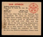 1950 Bowman #248 xCR Sam Jethroe  Back Thumbnail