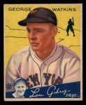 1934 Goudey #53 YEL George Watkins  Front Thumbnail
