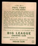 1933 Goudey #86  Phil Todt  Back Thumbnail