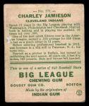 1933 Goudey #171  Charlie Jamieson  Back Thumbnail