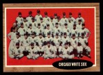 1962 Topps #113 GRN  White Sox Team Front Thumbnail