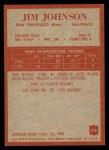 1965 Philadelphia #176  Jimmy Johnson  Back Thumbnail