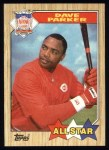 1987 Topps #600   -  Dave Parker All-Star Front Thumbnail