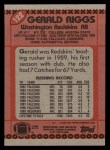 1990 Topps #122  Gerald Riggs  Back Thumbnail