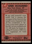 1990 Topps #57  Erik Howard  Back Thumbnail