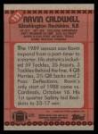 1990 Topps #131  Ravin Caldwell  Back Thumbnail
