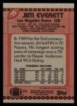 1990 Topps #75  Jim Everett  Back Thumbnail