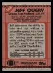 1990 Topps #144  Jeff Query  Back Thumbnail