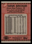 1990 Topps #150  Dave Brown  Back Thumbnail