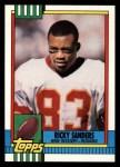 1990 Topps #127  Ricky Sanders  Front Thumbnail