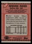 1990 Topps #204  Andre Reed  Back Thumbnail