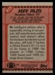 1990 Topps #211  Jeff Alm  Back Thumbnail