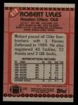 1990 Topps #212  Robert Lyles  Back Thumbnail
