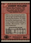 1990 Topps #152  Johnny Holland  Back Thumbnail