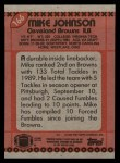 1990 Topps #166  Mike Johnson  Back Thumbnail