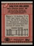 1990 Topps #232  Dalton Hilliard  Back Thumbnail