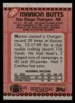 1990 Topps #383  Marion Butts  Back Thumbnail