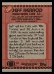 1990 Topps #306  Jeff Herrod  Back Thumbnail