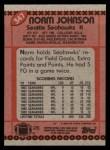 1990 Topps #347  Norm Johnson  Back Thumbnail