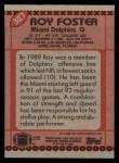 1990 Topps #327  Roy Foster  Back Thumbnail
