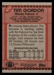 1990 Topps #476  Tim Gordon  Back Thumbnail
