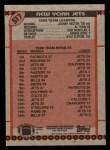 1990 Topps #517   Jets Highlights Back Thumbnail