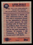 1991 Topps #50  Leon Seals  Back Thumbnail