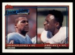 1991 Topps #10  Jerry Rice / Haywood Jeffires  Front Thumbnail