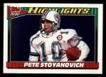 1991 Topps #4  Pete Stoyanovich  Front Thumbnail