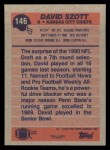 1991 Topps #146  David Szott  Back Thumbnail