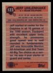1991 Topps #123  Jeff Uenhake  Back Thumbnail