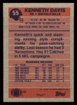 1991 Topps #55  Kenneth Davis  Back Thumbnail