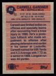 1991 Topps #42  Carwell Gardner  Back Thumbnail