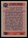 1991 Topps #277  Jacob Green  Back Thumbnail