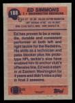 1991 Topps #188  Ed Simmons  Back Thumbnail