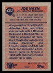 1991 Topps #283  Joe Nash  Back Thumbnail