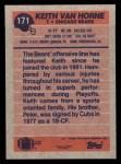 1991 Topps #171  Keith Van Horne  Back Thumbnail