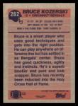 1991 Topps #262  Bruce Kozerski  Back Thumbnail