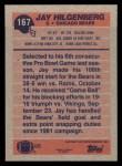 1991 Topps #167  Jay Hilgenberg  Back Thumbnail