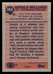1991 Topps #304  Gerald Williams  Back Thumbnail