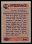 1991 Topps #389  Keith Millard  Back Thumbnail