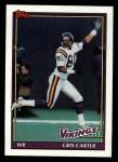1991 Topps #386  Cris Carter  Front Thumbnail