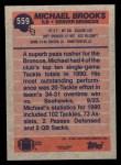 1991 Topps #559  Michael Brooks  Back Thumbnail