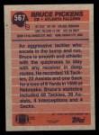 1991 Topps #567  Bruce Pickens  Back Thumbnail