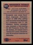 1991 Topps #501  Broderick Thomas  Back Thumbnail